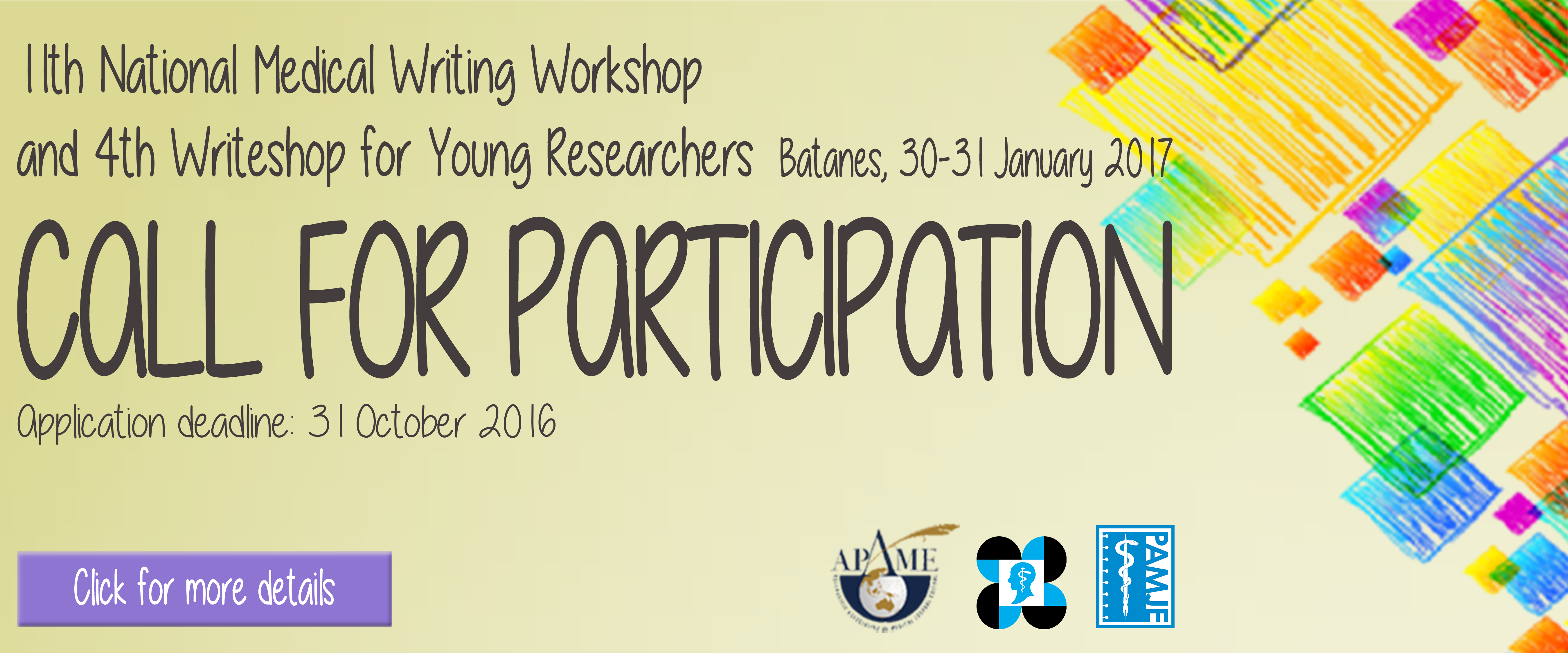 CALL FOR PARTICIPATION: 11th National Medical Writing Workshop & 4th Writeshop for Young Researchers