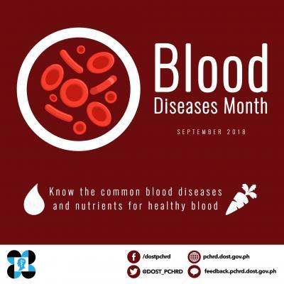 September is Blood Diseases Month