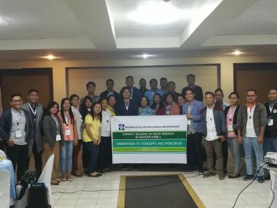 Researchers in Region 1 participates Health Research in Disaster Training