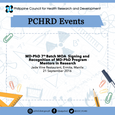 DOST, UPM to recognize MD-PhD Molecular Medicine mentors during the MOA Signing