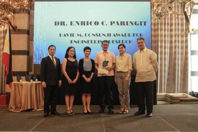 UP Professor receives David M. Consunji Award for Engineering Research