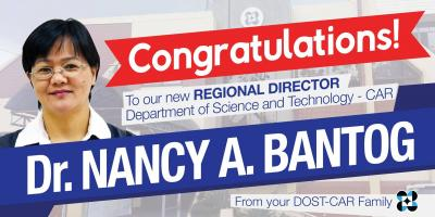 Dr. Bantog, newly appointed regional director of DOST-CAR